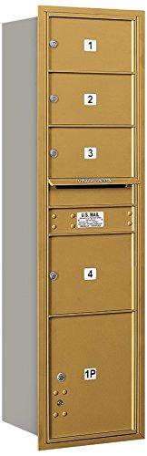 Salsbury Industries 3716s-04grp 4 C水平メールボックス、ゴールド   B00CLVFI30