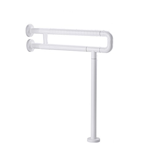Shower Grab Bars Toilet Handrail Bathroom Non-slip Safety Handle(White And Yellow) (Color : 2, Size : 60cm) - Drop Down Rail