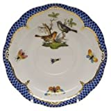 Herend Rothschild Bird Blue Tea Saucer Motif #5