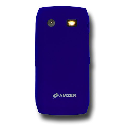 Amzer Silicone Skin Jelly Case for BlackBerry Pearl 9100/9105 - Blue