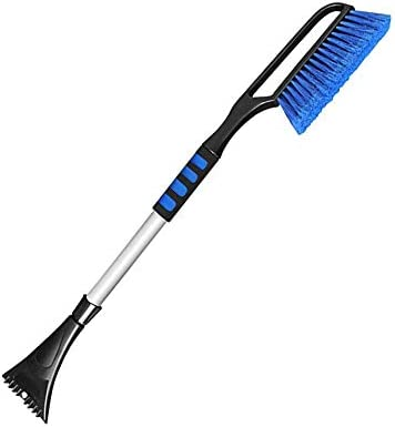 saobaokai Snow Scraper Snow Broom 2 in 1 Car Snow Brush Shovel Removal Brush Winter New Telescopic Snow Shovel Clean Tools