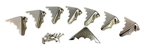 8pcs. Decorative Shiny Nickel-plated Metal Box Corners