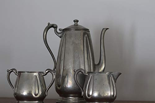 Home Comforts Teatime Old Fashion Teapot Pewter Vivid Imagery Laminated Poster Print 24 x 36 (Old Fashion Teapot)