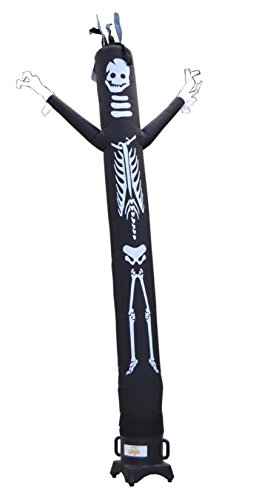 LookOurWay Tall Fly Guy Skeleton Tube Man Inflatable Sky Dancer Attachment, 10-Feet, (Inflatable Tube Man Halloween)