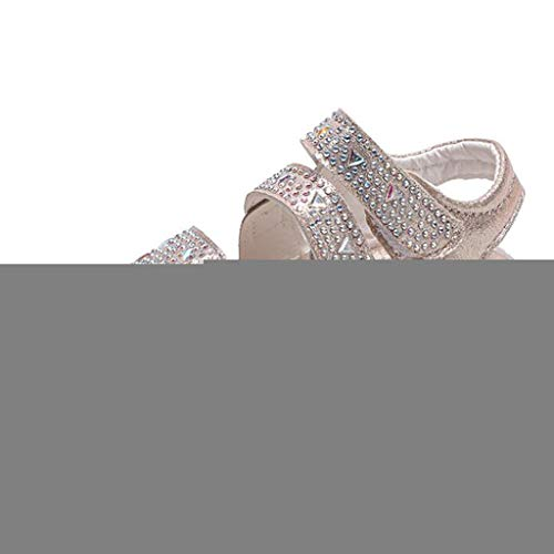 Price comparison product image Orfilaly Sandals for 1-6 Years,  Toddler Infant Kids Baby Girls Crystal Bling Flat Shoes Beach Sports Running Walking Sneakers Gold