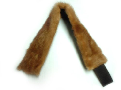 3.75-4 In Wide Whiskey Mink Headband by FursNewYork