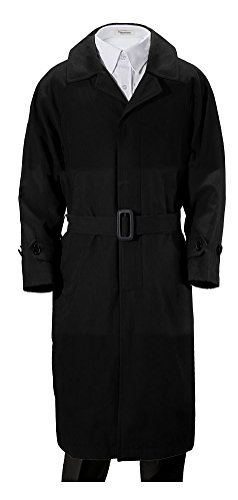 Franco Palino Big Boys' Black Suede Single Breasted Trench Coat Rain Coat with Belt & Hood Great for Parties, Holidays, Formal Events and All occasions10 by Franco Palino