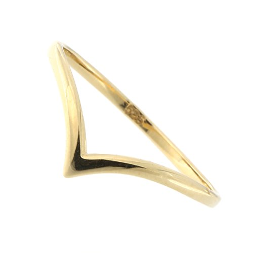 14k Yellow Gold Chevron Ring, size 6 - 14k Chevron Gold