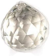 Faceted Clear Crystal Ball Prisms for Feng Shui, Home Decor, Chandelier Crystal 40mm by Power Sport