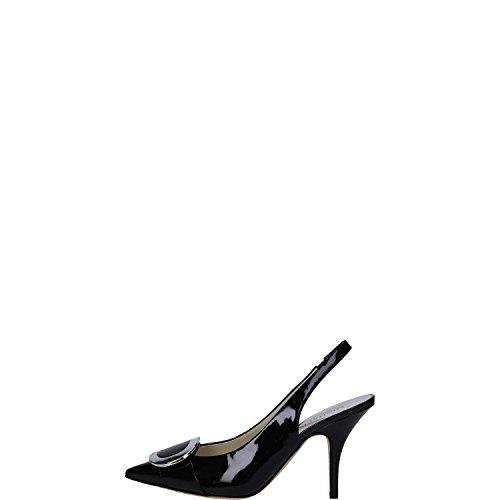 Michael Kors decolletes decoltè scarpe donna con tacco pelle pauline nero
