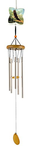 Party Explosions® Traditional Soaring Eagle Wind Chime with Natural Wood (Traditional Eagle)