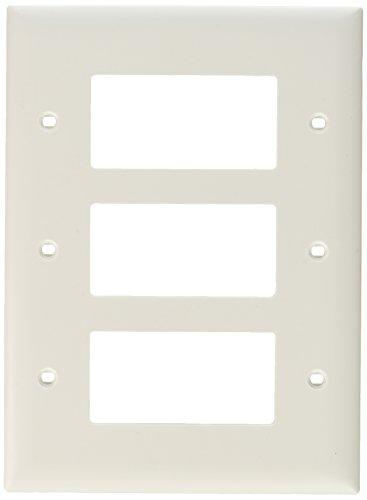 Legrand - Pass & Seymour TPJ263W Pass and Seymour Tpj263-W 3G 3Decorator Plate, White ()