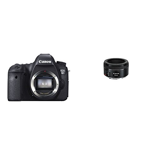 Canon EOS 6D 20.2 MP CMOS Digital SLR Camera with 3.0-Inch LCD (Body Only) - Wi-Fi Enabled with 1.8 STM Lens