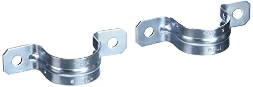 Hubbell-Raco 2234B4 Strap, Rigid/IMC, 1-Inch Trade Size, (2) Hole, Steel, 4-Pack ()