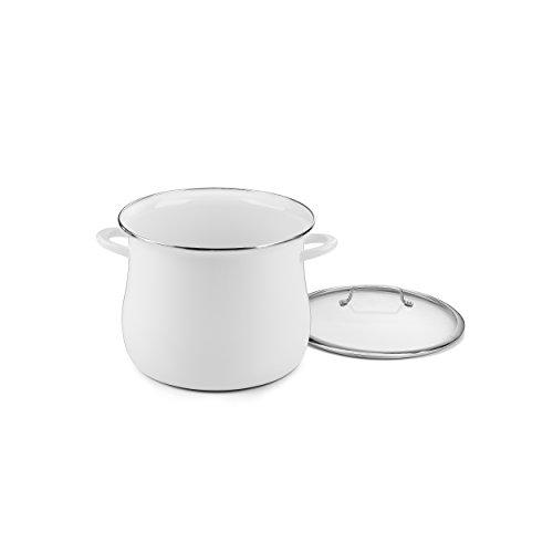 Cuisinart EOSB166-30W 16 Qt. Belly Stockpot w/Cover - White