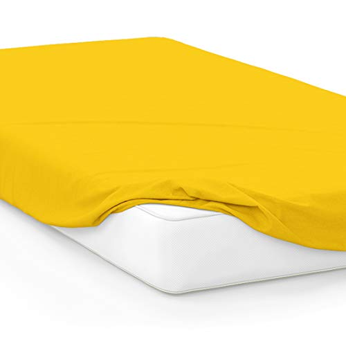 College Dorm Twin XL Bed Fitted Mattress Sheet Ultra Soft Hypoallergenic Wrinkle-Free, Stain, and Fade Resistant - Yellow Gold PMS 116