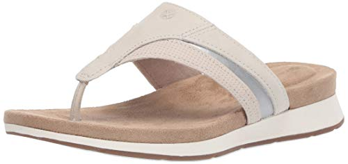 Hush Puppies Women's Pepper Toepost Pump, Pale Grey Nubuck, 7.5 W US