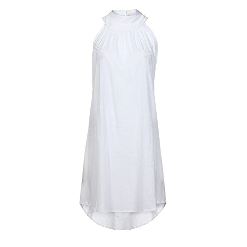 Taille Tonsi Blanc Robe Mancehs sans Plage Grande de Casual ete Femme de Soire Loisir wORHRXq7
