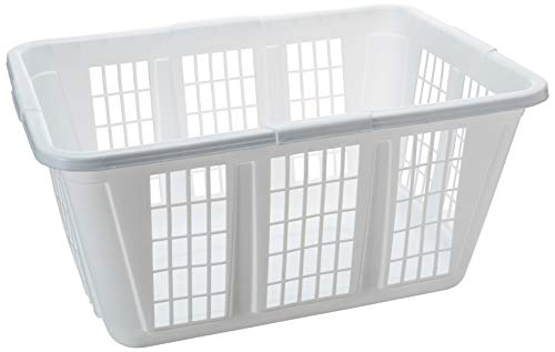 Rubbermaid Laundry Basket, 1.6-Bushel, White (FG296585WHT)
