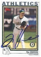 Tim Hudson Oakland Athletics 2003 Topps Autographed Card - Nice Card. This item comes with a certificate of authenticity from Autograph-Sports. Autographed