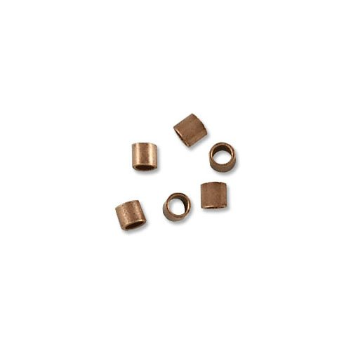 Crimp Tube 2x2mm Seamless Antique Copper Plated (10-Pcs)