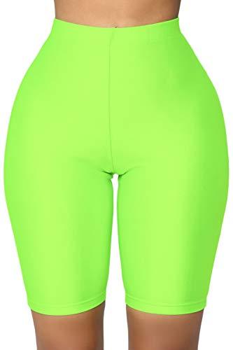 Women's Snakeskin Print Biker Shorts High Waist Active Gym Workout Yoga Short Leggings Sexy Stretch Bodycon Hot Shorts (B-Green, X-Large)