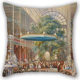 Price comparison product image Pillow Cases Of Oil Painting Eugène Louis Lami - Opening Of The Great Exhibition,  1 May 1851 18 X 18 Inches / 45 By 45 Cm, best Fit For Bench, her, adults, gril Friend, living Room, teens Both Sides