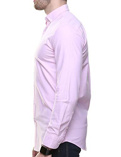 Piero Lusso Men's Long Sleeve Regular Fit Casual Sold Colour Dress Shirt 4