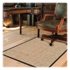 Deflect-o Chunky Wool Jute Chair Mat, Hard Floor, 46 by 60-Inch, Tan by Deflect-O