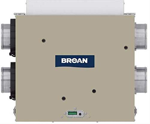 Broan ERV100SP 100 CFM Energy Recovery Ventilator with Side Ports and Energy Star Qualified