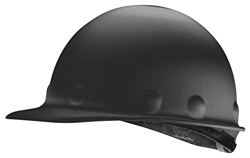 Fibre-Metal by Honeywell P2AW11A000 Super Eight Fiber Glass Tab Lok Cap Style Hard Hat, Black