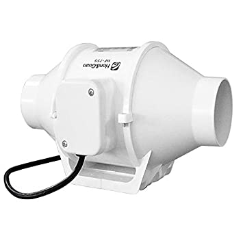 GRASSAIR 3 Pulgadas Turbo Ventilador de ventilación de plástico de Techo de Tubo de Escape Ventilador Extractor de Aire Ventilador en línea para conductos ...