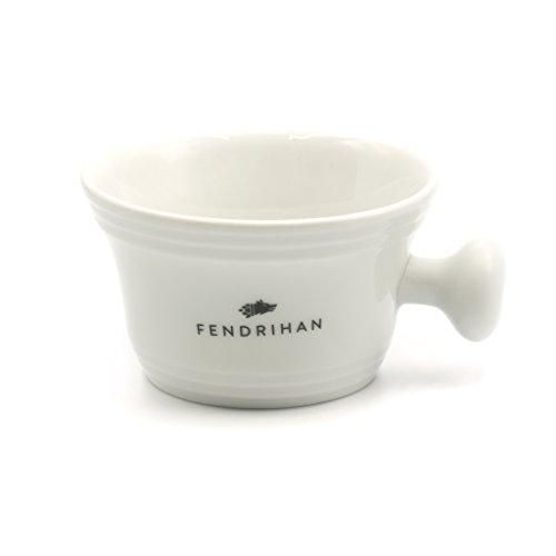 Fendrihan Porcelain Shaving Mug, White (MADE IN THE EUROPEAN UNION)
