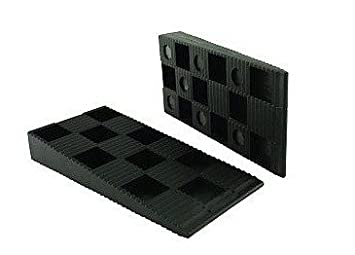 Fenster ToniTec Montagekeile 500 Stk 94x43x14 mm schwarz Kunststoff und T/ürenmontage Laminat verlegen