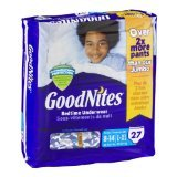 Health & Personal Care : Goodnites Bedtime Underwear Large/Extra Large, Boys, 27 CT (Pack of 3)