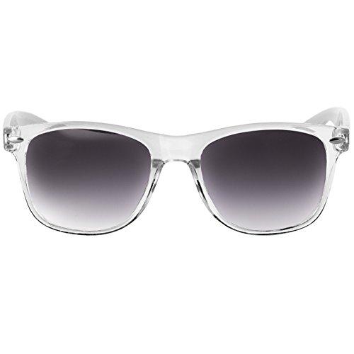 Caspar negro tintado Retro Gafas SG017 Color Sol blanco Colores Unisex Varios de ZZxSPvqr