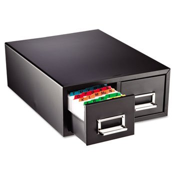 Drawer Card Cabinet Holds 3,000 5 X 8 Cards, 18 2/5 X 16 X 7 1/4 SteelMaster.