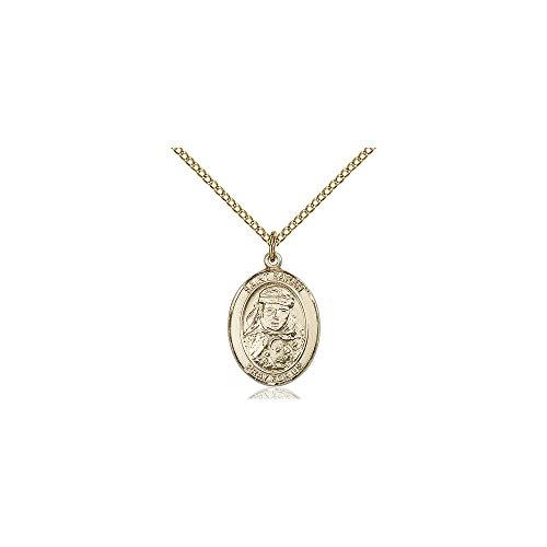 DiamondJewelryNY Religious Medal, 14kt Gold Filled St. Sarah Pendant
