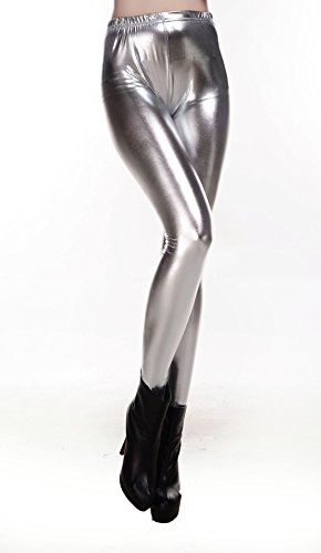 Liquid Wet Look Shiny Metallic Stretch Leggings (XX-Large, -