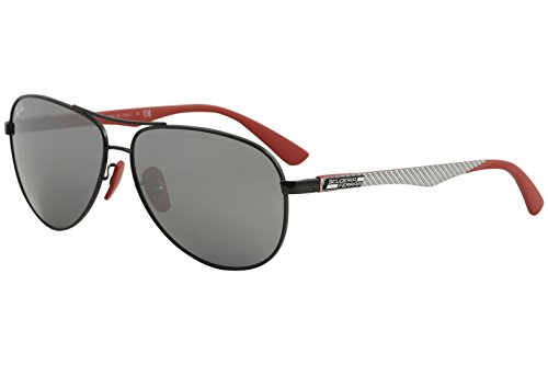 Ray-Ban Men's Steel Man Non-Polarized Iridium Aviator Sunglasses, Black, 61 - Carbon Ray Fibre Ban