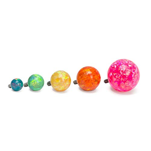Painful Pleasures 14g - 12g Internally Threaded Opal Replacement Ball - 6mm - Price Per 1-6mm ~ 1/4