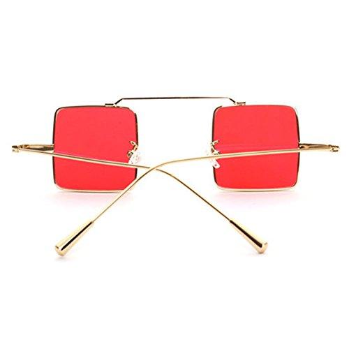 sol Mujer Steampunk Hombre de Square Vintage MEIHAOWEI Gafas C4 5qz0x