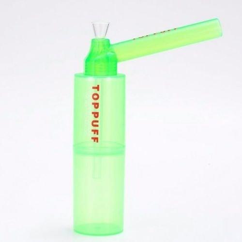 TOP PUFF Parte superior Puff portátil Bong con botella - Sistema de conversión de fumar Tubería de agua portátil (con botella) botella [color al azar ...