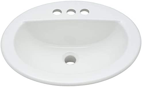 PROFLO PF19164WH 19 Self Rimming Oval Bathroom Sink