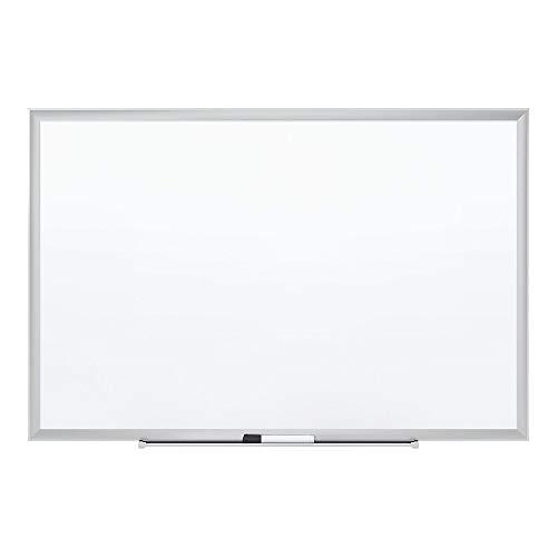 Staples 1781791 Standard Steel Whiteboard Aluminum Finish Frame 3'W X 2'H