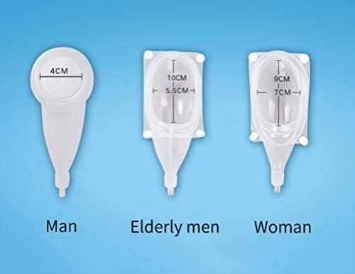 携帯小便器 再使用可能な通気性小便器 尿袋 こぼれ防止機能付き尿収集バッグ用尿排水バッグ、手術後、身体障害者、尿袋2個付き (Size : Male)