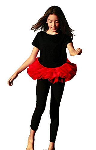 BellaSous Adult Poofy Tutu for Halloween Costume, Princess Tutu, Ballet Tutu, Dance Outfit, or Fun Run Red -