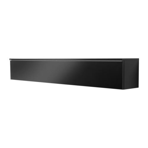 Ikea Besta Burs Wall Shelf In High Gloss Black Holds 118 Dvd