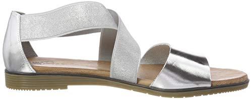 Damen Silber 92 grau Schwarz 910784 Piazza sandalette dawzTq11