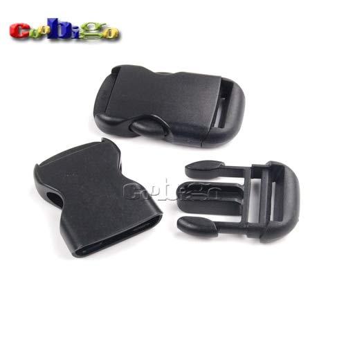 Buckes - 100pcs Pack 1-1/4''(32mm) Webbing Single Adjustable Circular Buckle for Backpack Luggage #FLC356-32